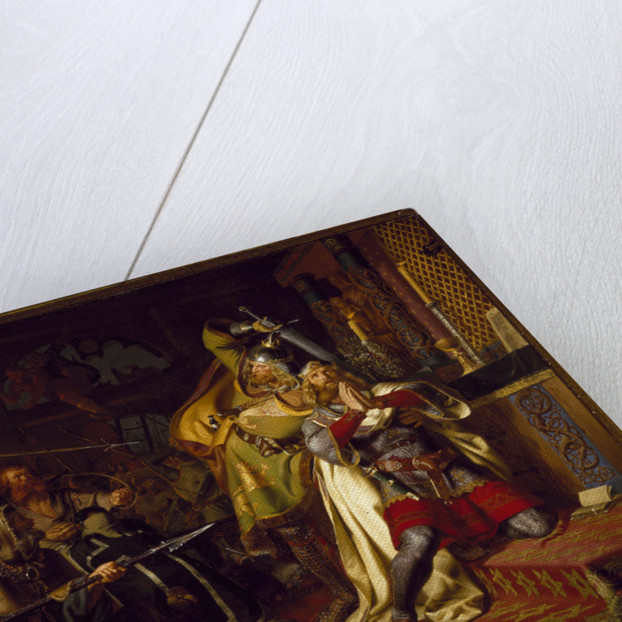 The death of Canute IV of Denmark in the Church of Saint Albanus (The Murder of Canute the Holy), 18 by Christian Albrecht von Benzon