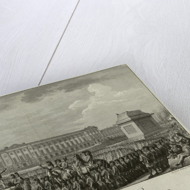 The Execution of Louis XVI in the Place de la Revolution on 21 January 1793, 1794 by Isidore Stanislas Helman