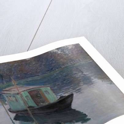 The Studio Boat (Le bateau-atelier), 1874 by Claude Monet