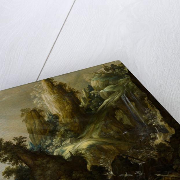 Mountain Landscape with Waterfall, 1605-1609 by Kerstiaen de Keuninck
