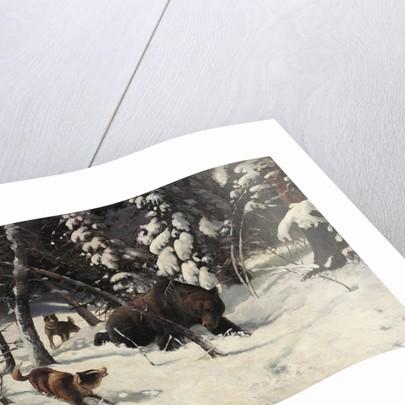 The Bear Hunt by Illarion Mikhailovich Pryanishnikov