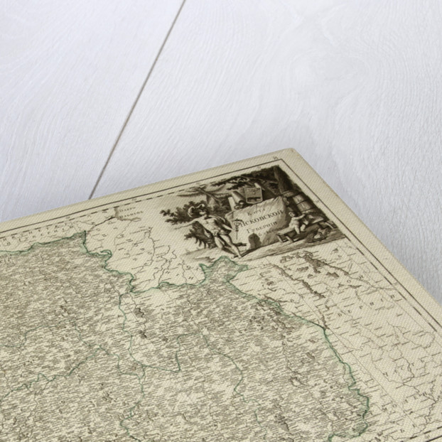 Map of Pskov Governorate, 1792 by Anonymous
