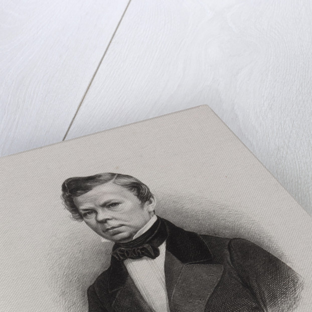 Portrait of the poet Vladimir Grigoryevich Benediktov, 1845 by Anonymous