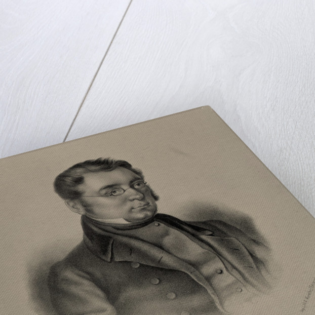 Portrait of the author Mikhail Zagoskin, 1845 by Anonymous
