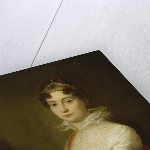 Juvenile portrait of Empress Maria Ludovica with a diadem by Anonymous