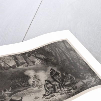 Aldea de Cabocles à Canta-Gallo. Illustration from Voyage pittoresque et historique au Brésil by Anonymous