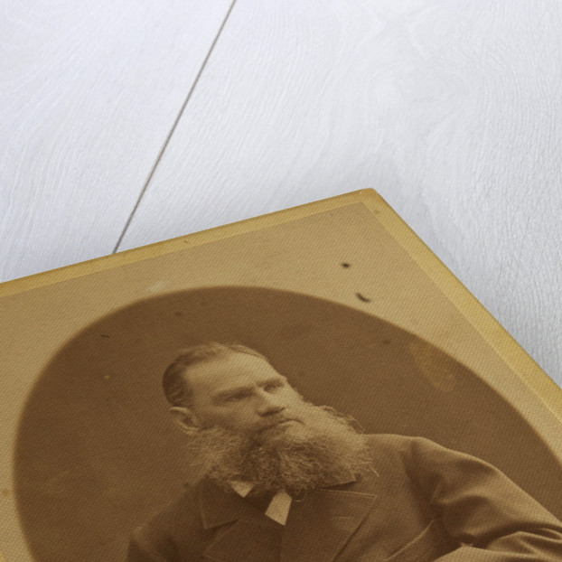 Portrait of the author Count Lev Nikolayevich Tolstoy by Anonymous