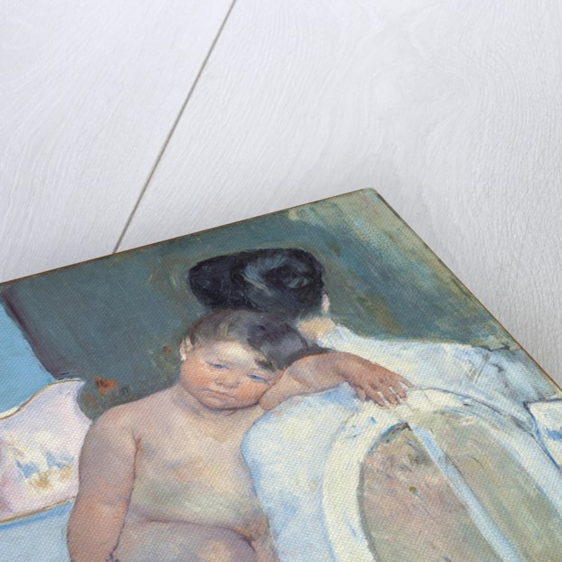Woman Sitting with a Child in Her Arms by Anonymous