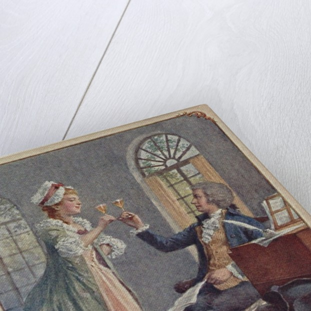 Wolfgang Amadeus and Constanze Mozart by Anonymous