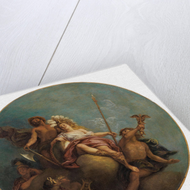 Minerva surrounded by Mercury, Diana, Apollo and Vulcan by Anonymous
