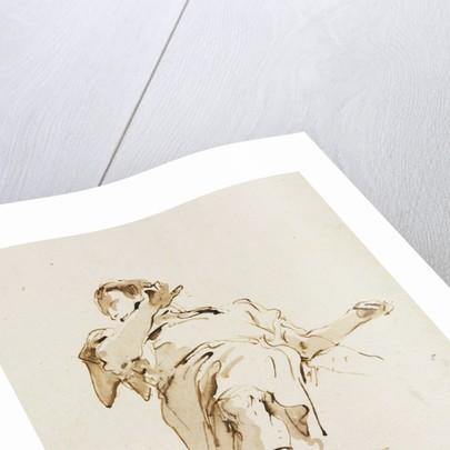 Male Figure Seen from Below, c. 1740s by Giovanni Battista Tiepolo