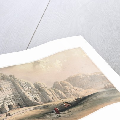 Petra, Eastern End of the Valley, 1839 by David Roberts