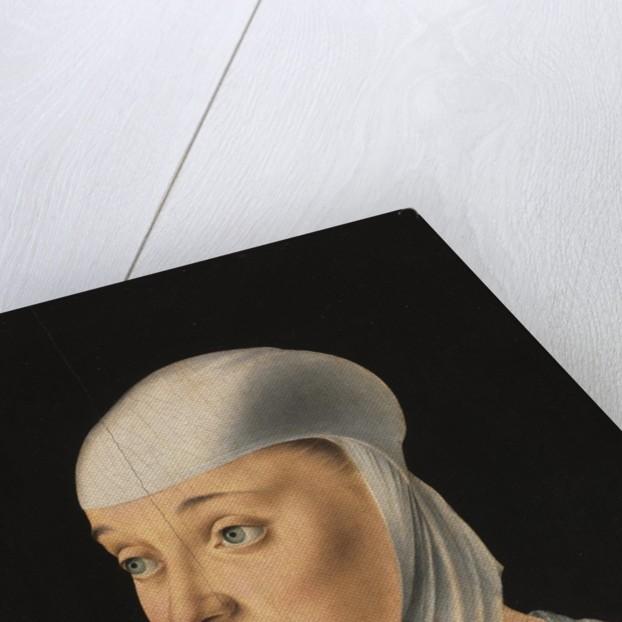 Portrait of a Woman, Possibly a Novice of San Secondo, c. 1490 by Jacometto Veneziano