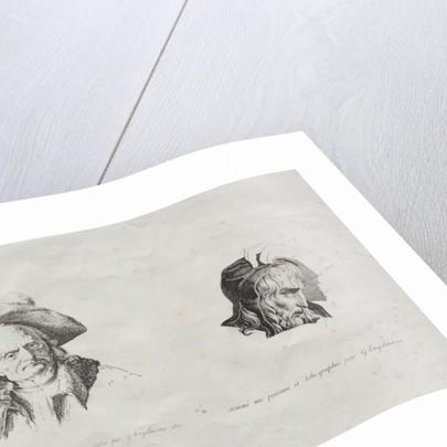 Receuil dessais lithographiques: Deux têtes, 1816 by Godefroy Engelmann