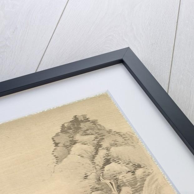 Waterfall and Rocks, 1847 by Tsubaki Chinzan