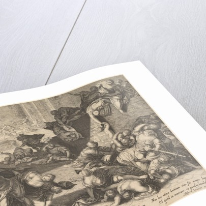 Massacre of the Innocents, reduced and reversed copy after Aegidius Sadeler, 1600?1629 by Unknown