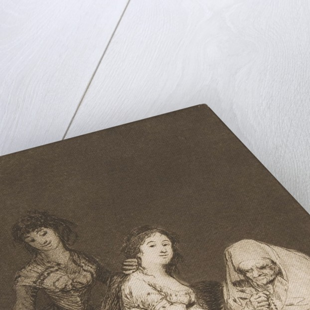 Plate 31 from 'Los Caprichos': She prays for her, 1799 by Francisco Goya