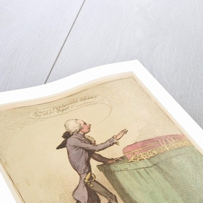 The Bottomless-Pitt, March 16, 1792 by James Gillray