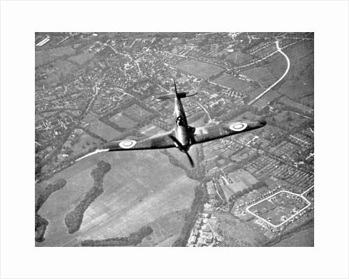 Hawker Hurricane in flight, Battle of Britain, World War II, 1940 by Unknown
