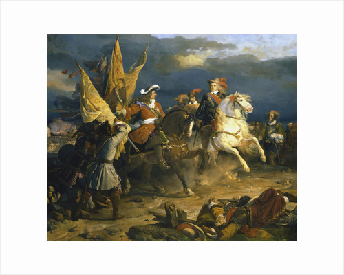 The Battle of Villa Viciosa, 11 December 1710 by Jean Alaux
