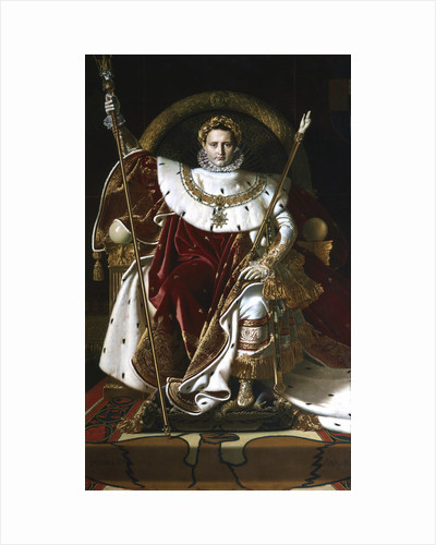 Napoleon I on the Imperial Throne, 1806 by Jean-Auguste-Dominique Ingres