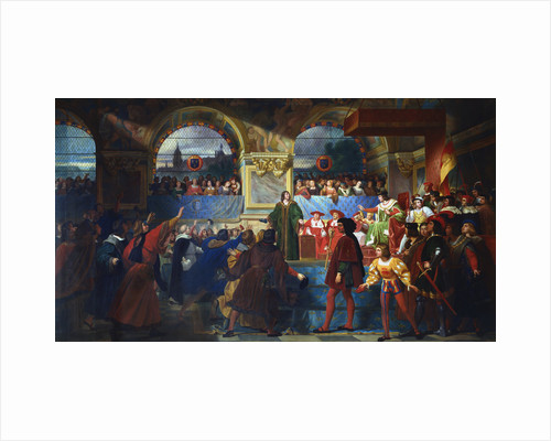 Louis XII proclaimed Father of the People at the States General of Tours, 1506, c1819-c1861 by Jean Louis Bezard
