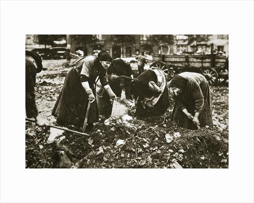 The poor of Berlin rummaging in refuse heaps, Germany, c1914-c1918 by Unknown