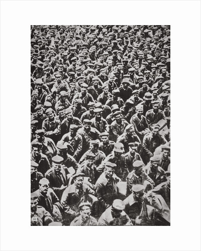Thousands of German prisoners captured by the Allied advance, World War I, 1918 by Unknown