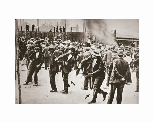 Riot during a strike by Standard Oil workers, Bayonne, New Jersey, USA, 1915 by Unknown