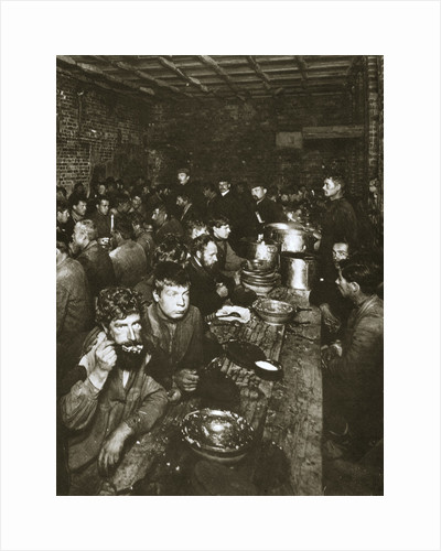 Russian manual labourers eating a meal, late 19th century by Unknown