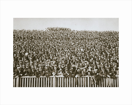 Saturday football crowd, 20th century by Unknown