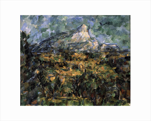 Landscape in Aix (Mont Sainte-Victoire), c1906. by Paul Cezanne