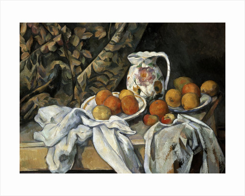 Still Life with Drapery by Paul Cezanne