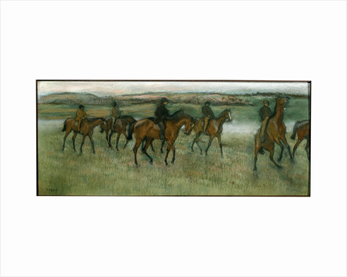 Exercising Racehorses, c1880. by Edgar Degas