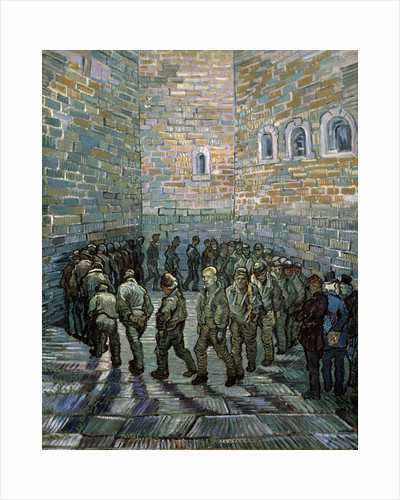 The Prison Courtyard, 1890. by Vincent van Gogh