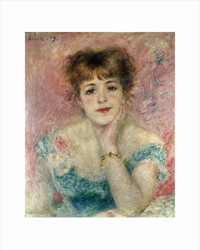 Portrait of the Actress Jeanne Samary, 1877. by Pierre-Auguste Renoir