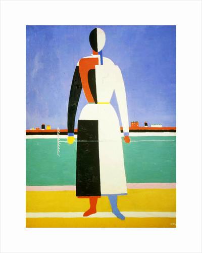 Woman with a Rake, 1928-1932. by Kazimir Malevich