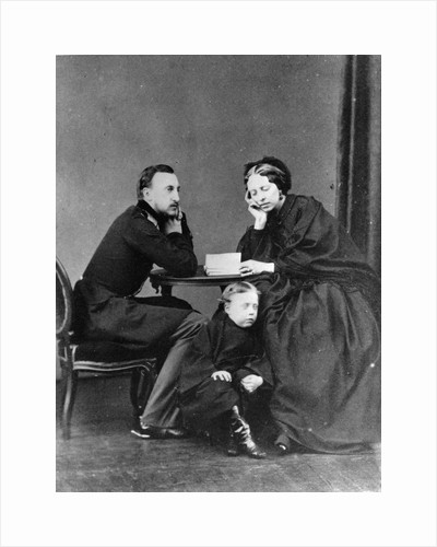 Grand Duke Nicholas Nikolaevich (the elder) of Russia with his wife and son, c1861-c1863 by Unknown