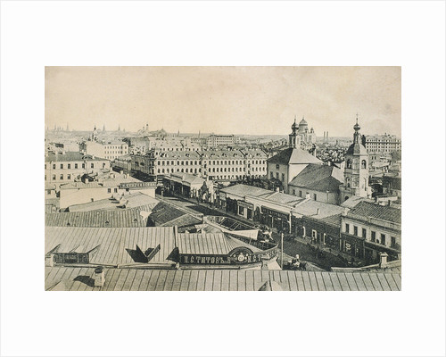 View of the Arbat in Moscow, Russia, late 19th or early 20th century by Unknown