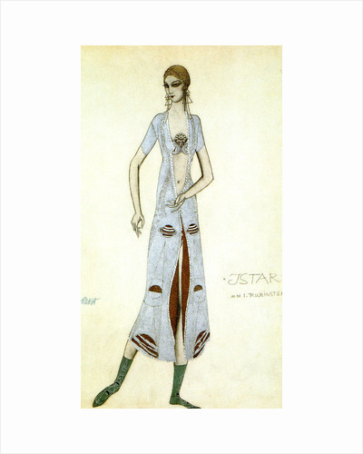 Costume design for Ida Rubinstein as Ishtar, 1924. by Leon Bakst