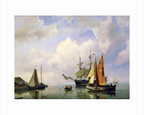 A Sea Landscape, mid 19th century. by Marinus Adrianus Koekkoek