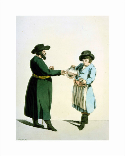 Kvass vendor, 1799. by Christian Gottfried Heinrich Geissler