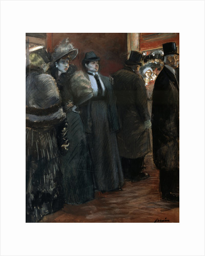 A Theatre Foyer, late 19th or early 20th century. by Jean Louis Forain