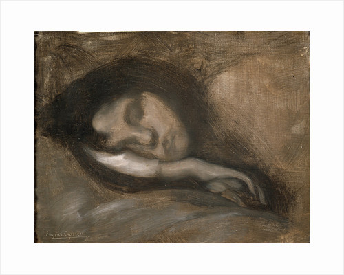 Head of a Sleeping Woman, 19th or early 20th century by Eugene Carriere