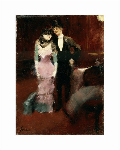Leaving a Masquerade Ball at the Paris Opera, late 19th or early 20th century. by Jean Louis Forain