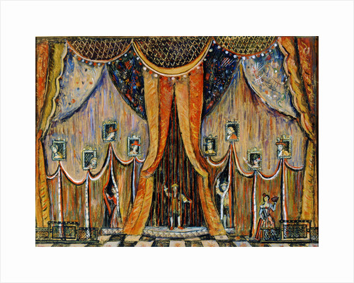 Design of the curtain for the opera Dorothea, by T Khrennikov, 1983. by Alexander Lushin