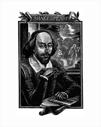 William Shakespeare, English playwright and poet by Mihajl Ivanovic Pikov