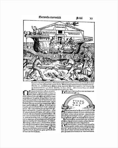 Page from the book The Nuremberg Chronicle, by Hartmann Schedel, 1493. by Michael Wolgemut