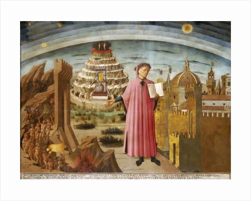 Dante and the Divine Comedy (The Comedy Illuminating Florence) by Domenico di Michelino