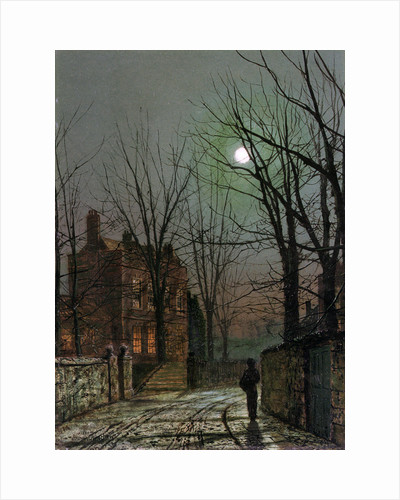 By the Light of the Moon, 1882. by John Atkinson Grimshaw